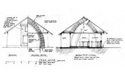 Section sketch of Cruck House