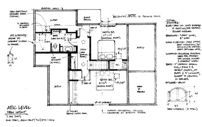 Plan of Bason House, after renovation.