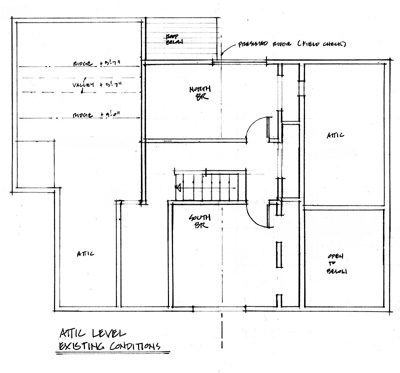 Plan of Bason House, before renovation.