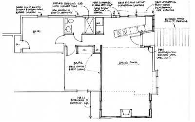Plan Ralph Murphy Apartment, after renovation