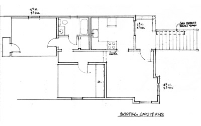 Plan Ralph Murphy Apartment, before renovation